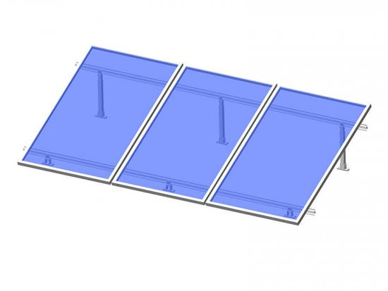 Solar panel flat roof mounting system